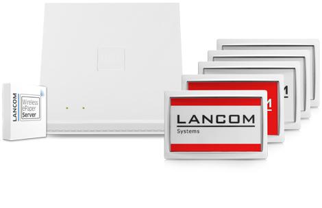 LANCOM Wireless ePaper Room Signage Set 62222