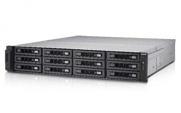 QNAP TS-EC1280U-E3-4GE-R2 3.5 GHz 4GB ECC Ram 10GBit 12-Bay NAS Bundle mit 7x 256GB SSD