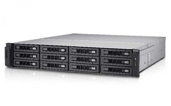 QNAP TS-EC1280U-E3-4GE-R2 3.5 GHz 4GB ECC Ram 10GBit 12-Bay NAS Bundle mit 7x 512GB SSD