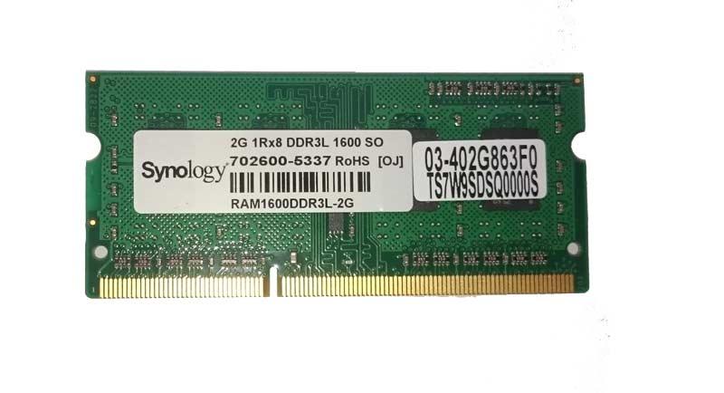 Synology Arbeitsspeicher 2GB, DDR3-RAM, SO-DIMM (1600MHz, 204pin, CL11, 1Rx8... ram2GB-syn