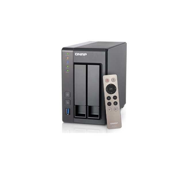 Qnap TS-251+ 2.0GHz QuadCore 2GB Ram 2-Bay NAS Server 6TB Bundle mi... TS-251+2G-6tw7