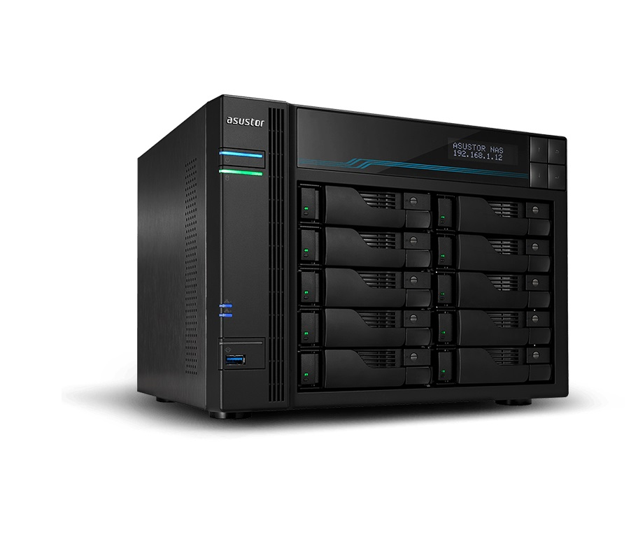 Asustor AS6510T 10-Bay 100TB Bundle mit 10x 10TB Red Pro WD102KFBX 90-AS6510T00-MD30-100tRedP