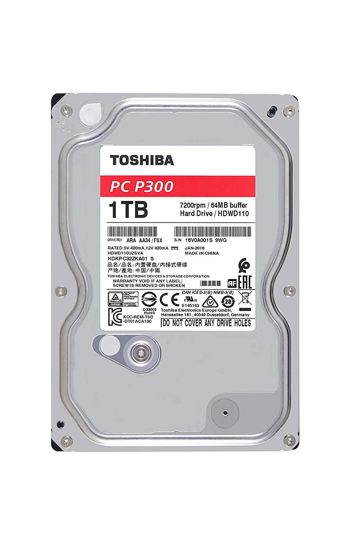 1000GB Toshiba P300, 3,5, SATA 6Gb/s (HDWD110)