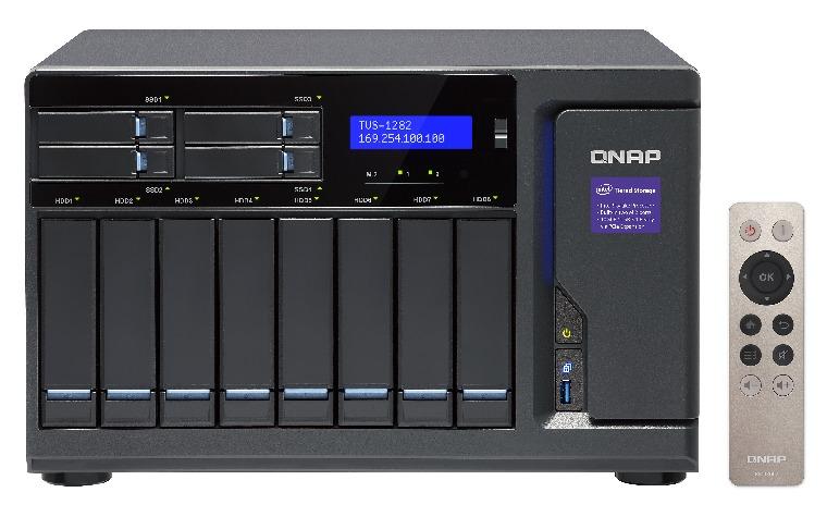 Qnap TVS-1282-i5-16G 12-Bay 24TB Bundle mit 4x 6TB Red Pro WD6002FFWX TVS-1282-i5-16G-24t4RedP