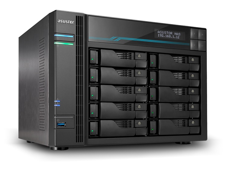 Asustor AS7110T 10-Bay 100TB Bundle mit 10x 10TB Ultrastar 90-AS7110T00-MD30-100twdUL