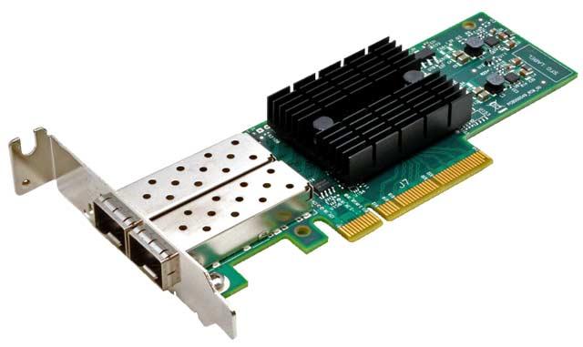 Synology NAS Netzwerkkarte E10G17-F2 10Gbit SFP+ Dualport, für die ...