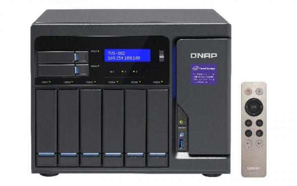 Qnap TVS-882-i3-8G 8-Bay 16TB Bundle mit 4x 4TB HGST Dekstar Nas